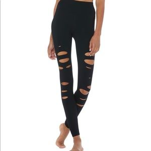 All Ripped Airbrush Leggings - Black - XS